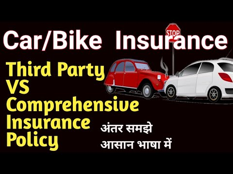 Comprehensive vs Third Party Insurance for vehicle car/bike in hindi