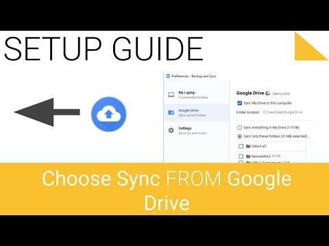 Change Google Backup and Sync settings Choose what to sync from Google Drive