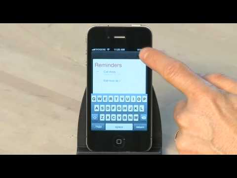 Setting up Reminders in iOS 5