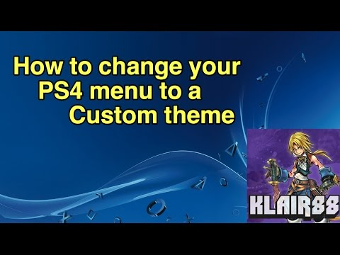 How to change your PS4 menu to a custom theme after 4.5 update