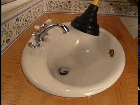 How to Clear a Blocked Sink Drain