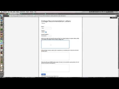 College Recommendation letters prep via Google Forms