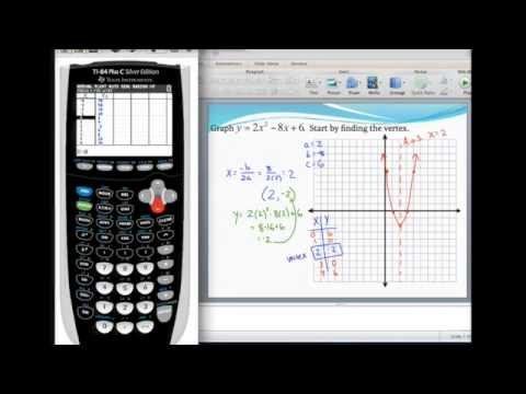 Graphing a parabola in standard form and finding the vertex using a graphing calculator
