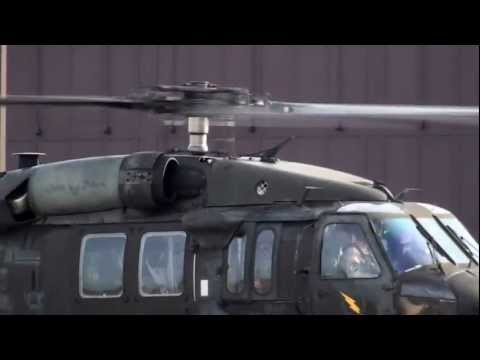 Blackhawk Army Helicopter Take Off