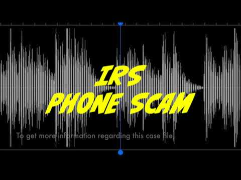 IRS phone scam recording