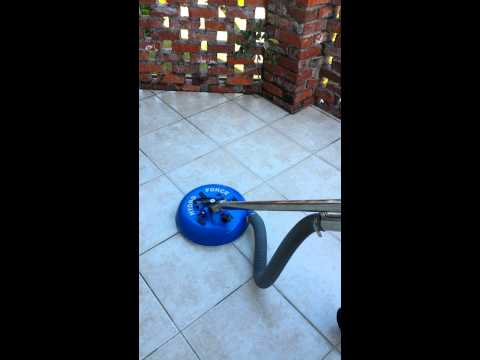 Tile and Grout Cleaning a Patio