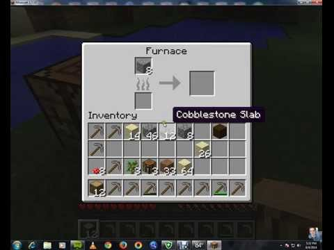 How To make a iron pickaxe in Minecraft