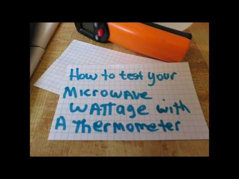 fun science experiment measure wattage of microwave with a thermometer