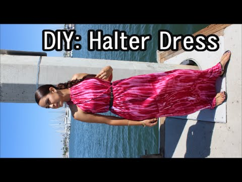 DIY: How to Easy Halter Maxi Dress