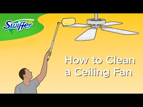 How to Clean Ceiling Fans with Swiffer Dusters - Ep. 16 | Swiffer