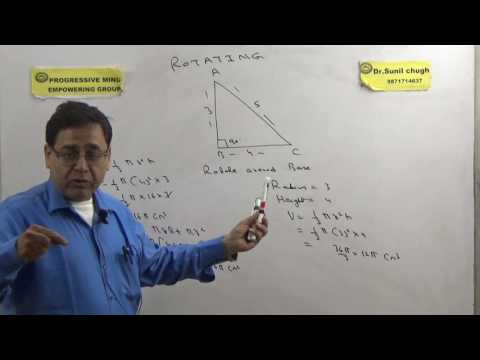 Best mensuration questions for CAT, SSC, GRE etc Rotating right angled triangle to generated cone