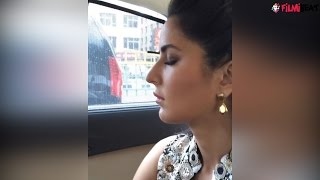 Katrina Kaif sleeping in car in the most weird manner, Watch video | Filmibeat