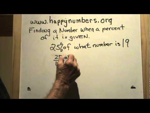 Finding a Number When a Percent of it is Given