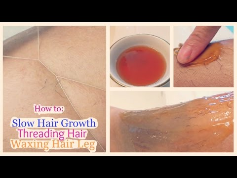 How to: Slow Hair Growth + Threading Hair + Waxing Hair Leg || AboutMeLife
