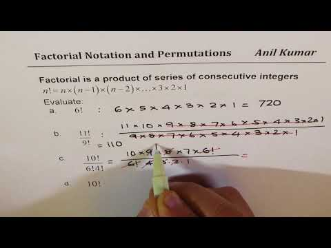 Exam Review Factorial Permutation Notation and Counting Principles Examples