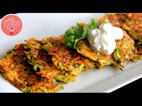How to make Zucchini Pancakes - Pancake Recipe - Оладьи из цукини