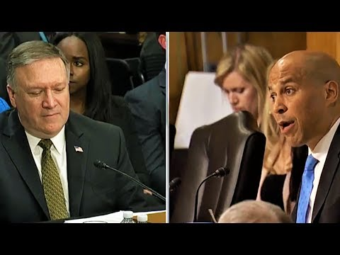 Booker Grills Pompeo On Hating Gays And Muslims