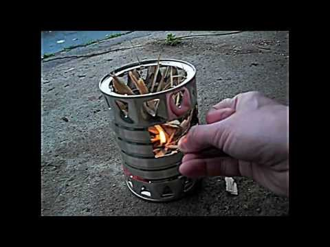 Coffee can twig stove DIY