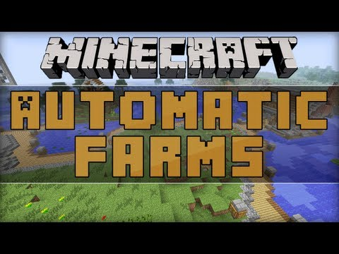 How To Build An Automatic Farm In Minecraft 1.5 With Hoppers!