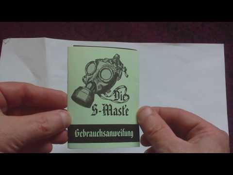 REPRINT WW2 GERMAN M38 GASMASK INSTRUCTION BOOK