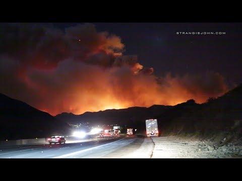 Sylmar, Los Angeles: Creek Brush Fire