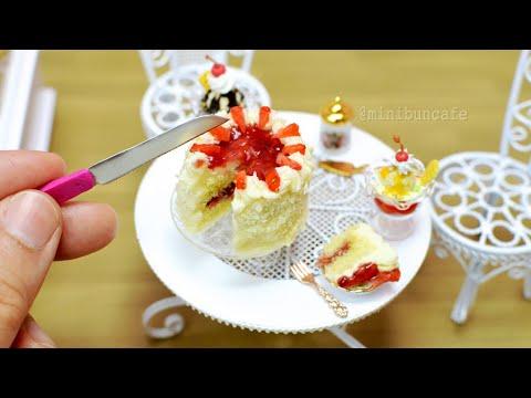 Strawberry gateau mini cake - mini food