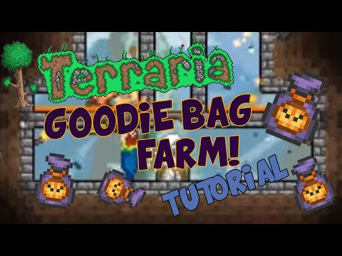 Terraria iOS/Android - HOW TO MAKE A MOB GRINDER / FARM (GOODIE BAGS & GEL)