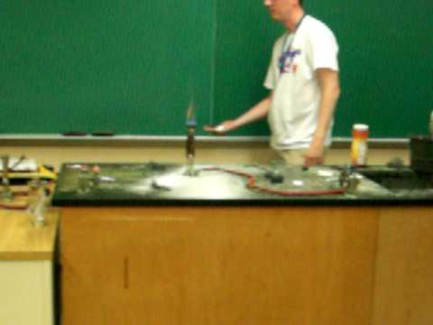mr milam chemistry burning coffee creamer