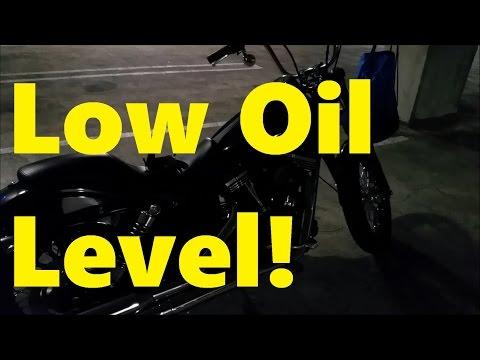 Low Oil Level!? - 2015 Dyna Street Bob FXDB