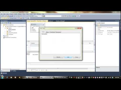 How to connect SQL 2008 to Visual studio 2010   YouTube