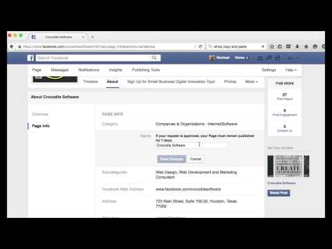 How to Change Your Facebook Page Name & URL