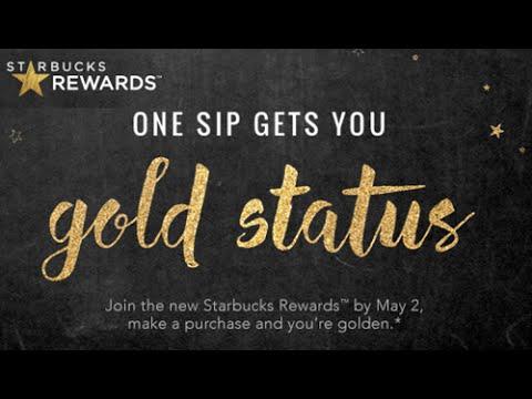 Starbucks Gold Rewards Card Unboxing