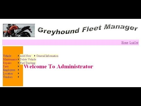 Grey Hound Fleet Vehicle Management System Project in Asp.Net