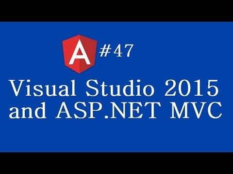 Angular 2 Tutorial - 47 - Visual Studio 2015 and ASP NET MVC