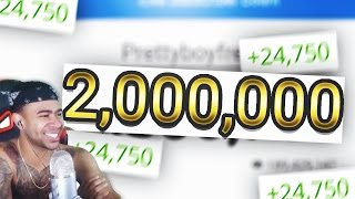 TWO MILLION SUBSCRIBERS!!! (LIVE REACTION + HUGE GIVEAWAY)