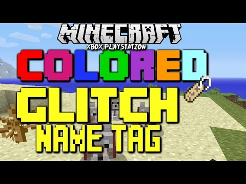 Minecraft TU19 Xbox One & PS4 Colored, Glitch Name Tag Text Easter Egg |Title Update 19 Tutorial