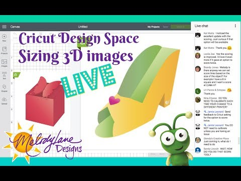 Sizing 3D Images in Cricut Design Space