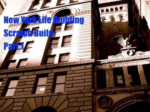 N Scale Scratch Build  -- New York Life Building, Kansas City Part 1