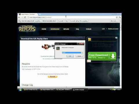 HOW TO DOWNLOAD LOL REPLAY/RECORDER