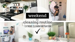 EXTREME CLEANING MOTIVATION // CLEANING MY APARTMENT // SAHM ...