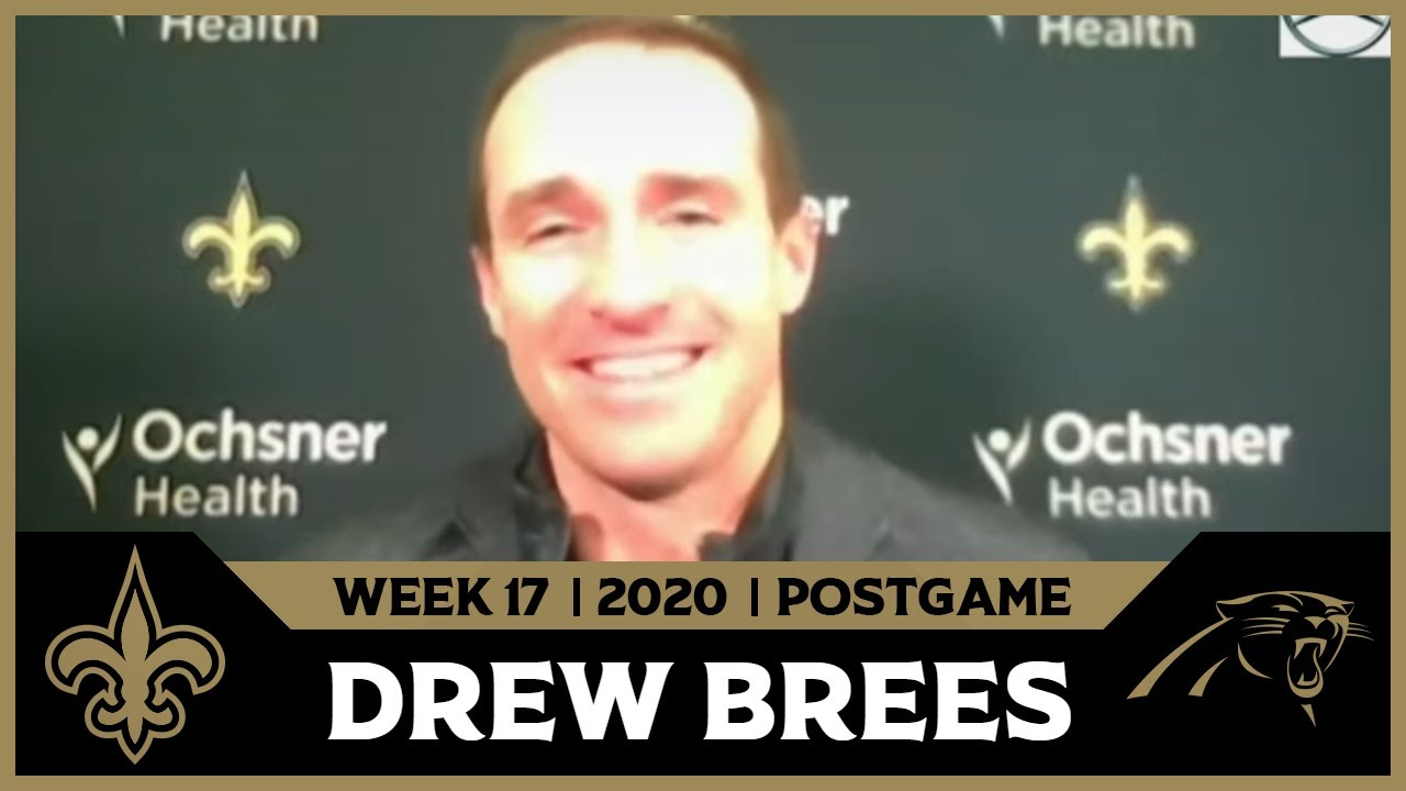 Drew Brees on NFC South Sweep in Win | Saints-Panthers Postgame