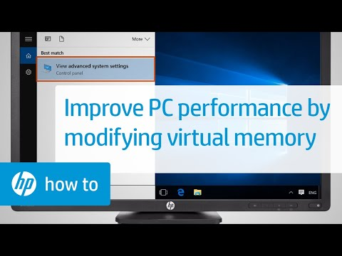 Increasing Computer Performance by Modifying Virtual Memory Settings in Windows