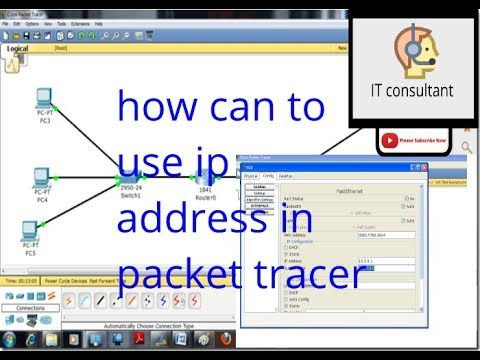 how to use ip address in packet tracer