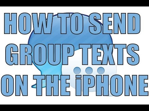 How to send iPhone Group Texts iOS 7 (2013)