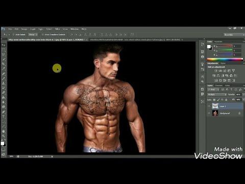 Photoshop Cs6 tattoo tutorial _ how to add tattoos