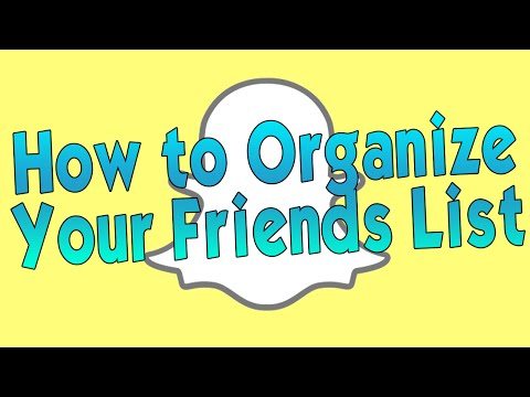 How to Organize Your Contacts in Snapchat