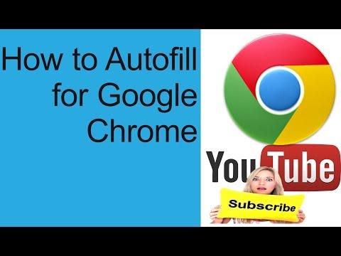 How To Add Google Autofill To Chrome | Autofill For Google Chrome
