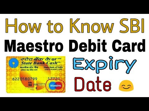 How to know SBI Maestro Debit Card Expiry Date
