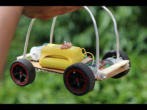 How to Make Remote Control Car at Home in Easiest Way - DIY Wireless RC CAR - Make Mini Go Kart
