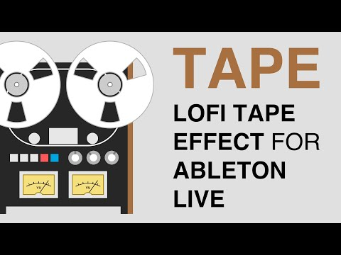 TAPE Analog Tape Ableton Live Rack Demo (Free Download)